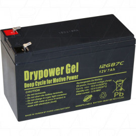 Deep cycle - Drypower 12V 7Ah Sealed Lead Acid Gel Battery motive power, mobility scooter, golf buggy