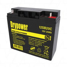 DRYPOWER 12V  20Ah  (Replaces Century 12v 18Ah SLA PS12180.)