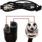 Lead & Microphone plug for Battery Fighter Chargers