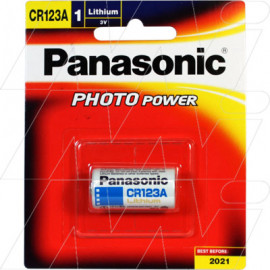 Panasonic CR123A Lithium Battery replaces CR123A, CR123AS, DL123A, EL123A, K123L