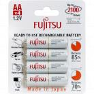 HR-3UTC Fujitsu Ready to Use, Up to 2100 recharges Rechargeable AA Battery