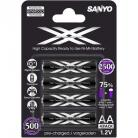 Sanyo XX four pack by eneloop technology rechargeable AA battery