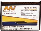 Replacement battery suitable for Dell Axim X50 series.