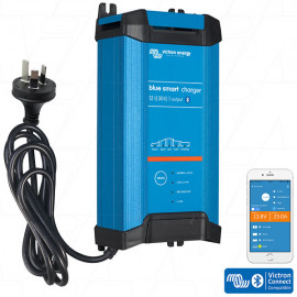 Blue Smart IP22 SLA/LiFePO4 Charger 12V 30A Single Output Fan Assisted BPC123042012 (AU/NZ Plug)